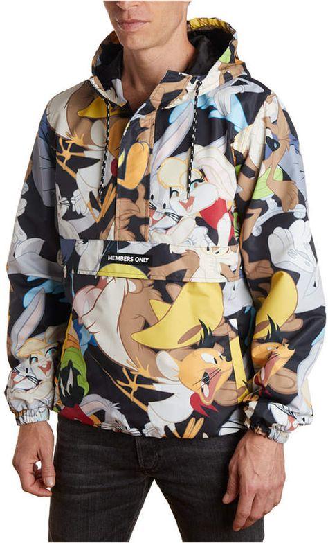 Men/'s Multicolor Windbreaker Tracksuit by Looney Tunes