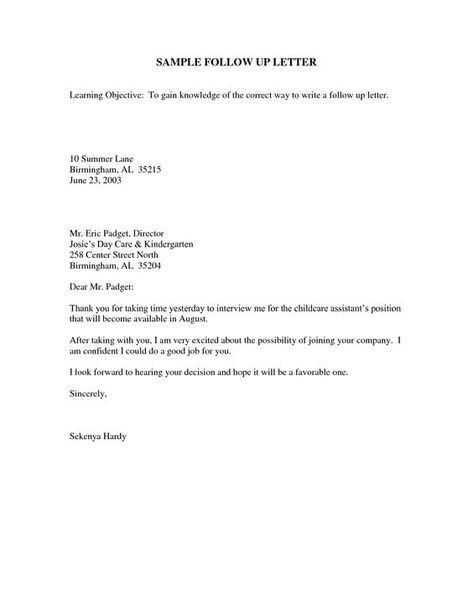 Appointment Letter Template images - appointment letter Legal - follow up after interview