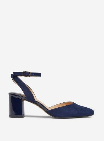 Wide Fit Navy 'Diva' Court Shoes