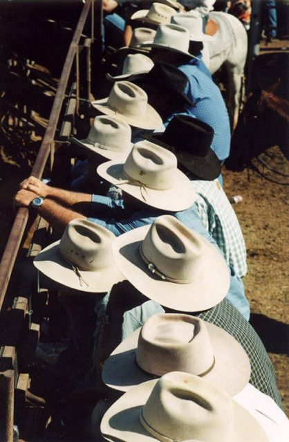 cowboys and cowgirls Akubra Hats - Cloncurry, Queensland, Australia. This is standard headgear for a true blue Aussie. Don't see them much in the cities but out in the country thes Cowboy And Cowgirl, Cowboy Hats, Cowgirl Quote, Vintage Cowgirl, Vintage Hats, Gaucho, Akubra Hats, Baddie, Cowgirls