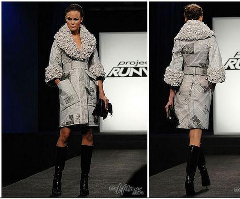 Coat made of newspaper - project runway