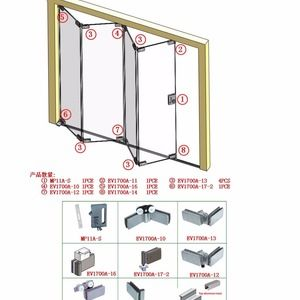 Source Latest Design Frameless Glass Folding Door Accessories For Sliding Glass On M Alibaba Com Folding Door Hardware Folding Doors Folding Glass Doors