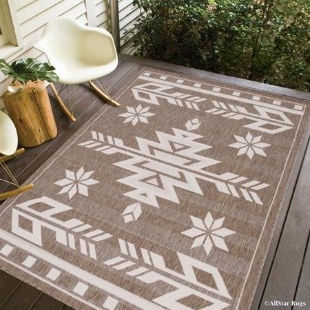 Mocha Allstar Indoor Outdoor All Weather Rug With Arrow Pattern 4 11 X 6 12 Walmart Com Indoor Outdoor Carpet Outdoor Rugs Indoor Outdoor