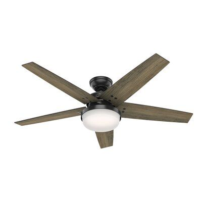 Hunter Fan 52 Brenham 5 Blade Standard Ceiling Fan With Remote Control And Light Kit Included Wayfair In 2020 Ceiling Fan With Light Fan Light Ceiling Fan