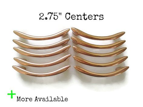 Lots Of 10 Copper Vintage Drawer Pulls 2 75 Centers Nos Mid