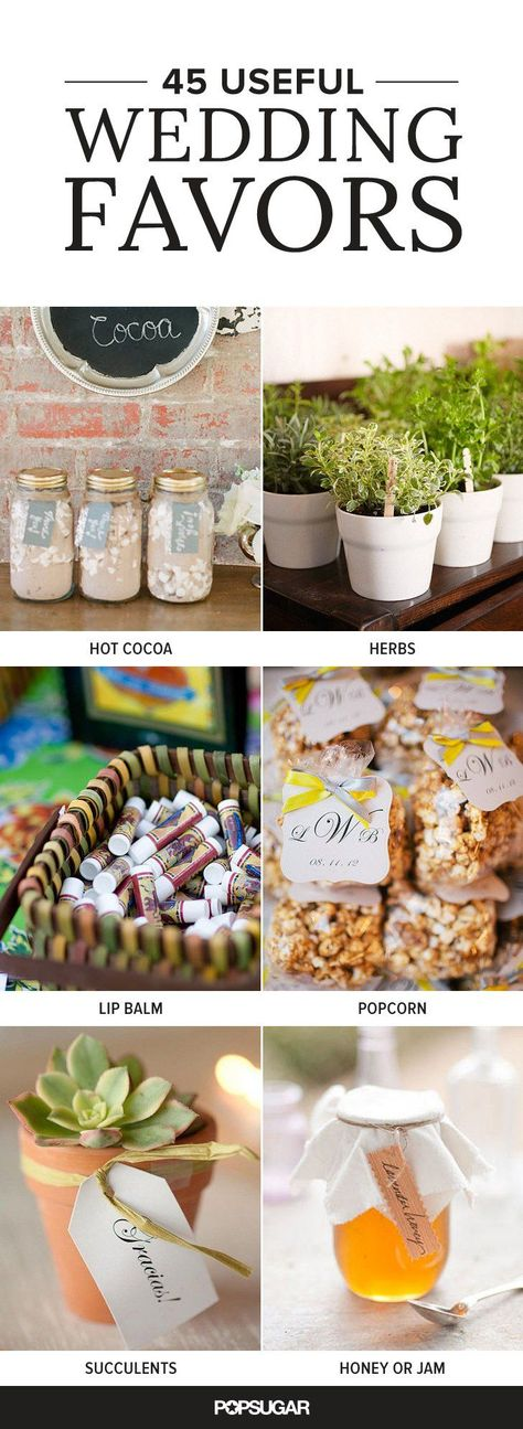 Pin for Later: 45 Wedding Favors Your Guests Will Actually Use #WeddingFavors