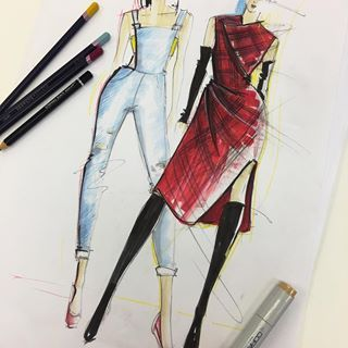 Teaching How To Create Your Own Croquis Figures And Use Them Draw Your Own Designs Onto Them And Fashion Sketches Fashion Illustration Illustration Courses