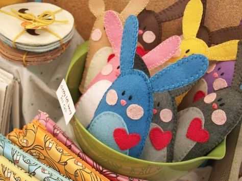 felt rabbits