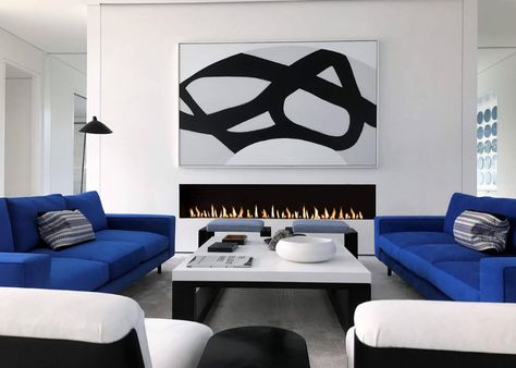 72 Recessed Electric LED Fireplace
