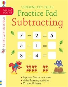 Subtracting Practice Pad 5 6 New For July 2018 Practice Pads Subtraction Usborne