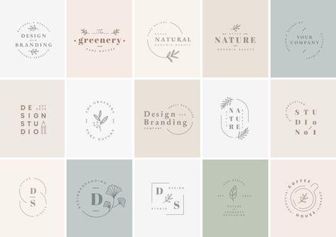 Logo design set Free Vector   Premium Vector #Freepik #vector #logo #banner #label #coffee