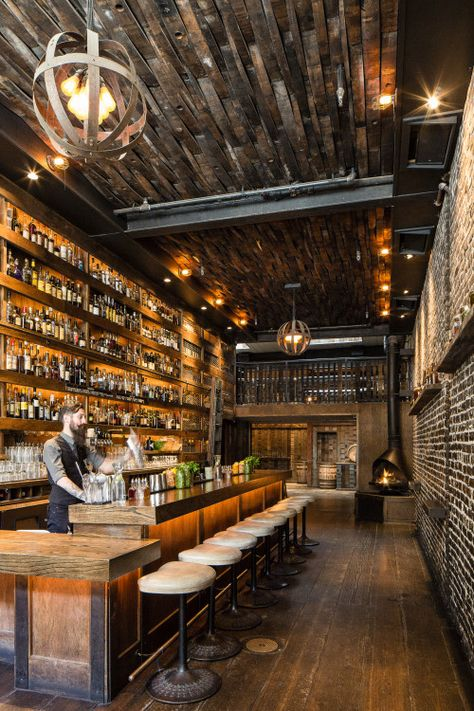 restaurant marketing They Needed Reclaimed wood wi - Pub Design, Brewery Design, Lounge Design, Design Suites, Design Hotel, Back Bar Design, Sport Bar Design, Bar Lounge, Lounge Ideas
