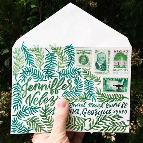 Hand Lettering Envelopes, Mail Art Envelopes, Handwritten Letters, Addressing Envelopes, Addressing Letters, Cursive, Letter Writing, Letter Art, Art Postal