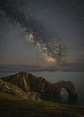 Dorset Milkyway Milky-Way Durdledoor Durdle-Door Night Astro Astrophot