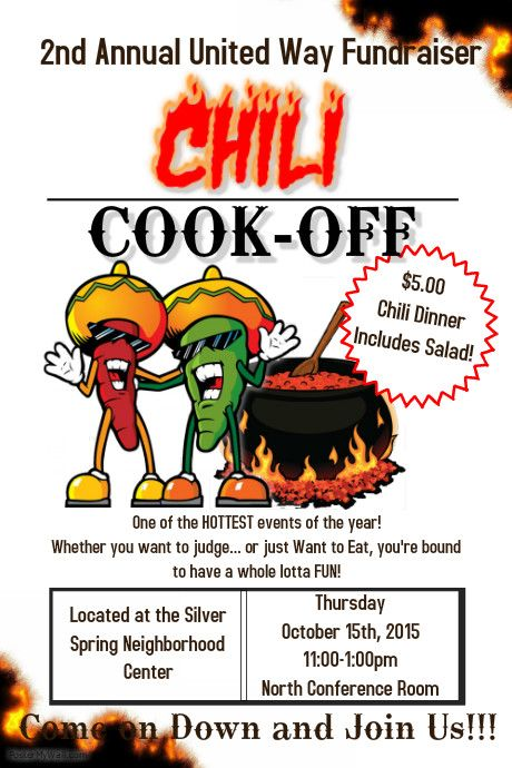 Create Great Looking Posters Flyers And Social Media Images For Your Chili Cook Off Use Our Templates And Be Done In Minutes F Chili Cook Off Cook Off Chili