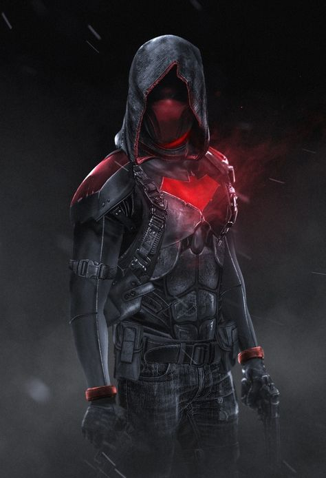 """ "" Red Hood by Bosslogic "" Oh hell yeah! Urban warfare outfit, this is what I expect the Red Hood to wear as a uniform. Also I hope he has the taser in his chest's bat symbol. Red Hood Wallpaper, Ps Wallpaper, Nightwing, Batwoman, Hood Wallpapers, Batman Arkham Knight, Gotham Batman, Batman Robin, Batman Red Hood"