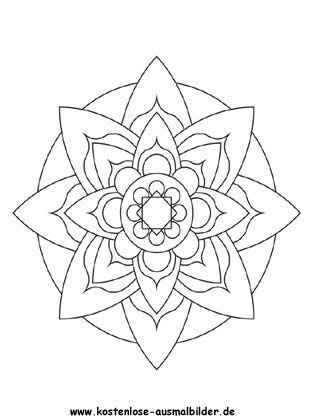 Blumen Mandala 3 Zum Ausmalen Blumen Ausmalbilder Ausmalen Ausmalbilder