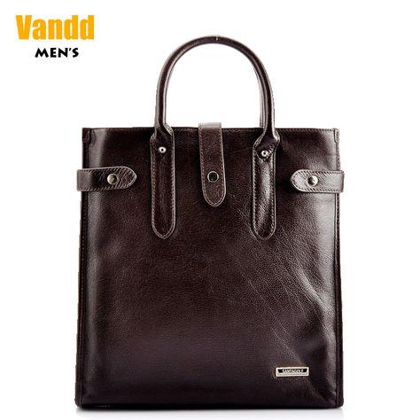 Aliexpress.com : Buy Vandd Men's Daily Business Dark Brown Coffee Genuine Leather Vertical Tote Handbag Shoulder Messenger Bag from Reliable mens document bag suppliers on Vandd Men. $101.00