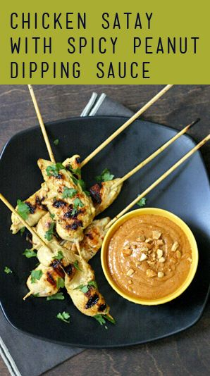 Chicken Satay with Coconut-Peanut Sauce   Recipe