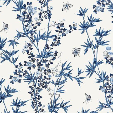 Scalamandre Jardin De Chine Porcelain Wallpaper Discount