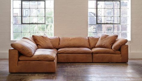 Feather Extra Deep Leather Corner Sofa Leather Corner Sofa