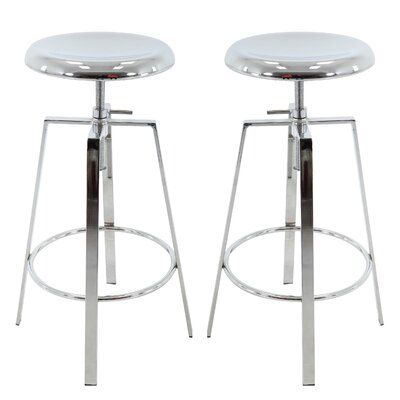 Williston Forge Ohare Backless Adjustable Height Barstool Color