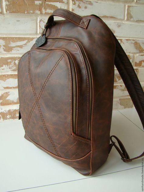 a4f3e51e95cb Рюкзаки ручной работы. Ярмарка Мастеров - ручная работа. Купить Стильный  винтажный кожаный рюкзак. Handmade. Винтаж, индивидуальный дизайн