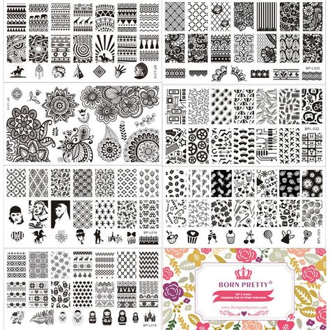 Nail Art Stamp Stamping Plate Template Image Manicure BORN PRETTY L ...