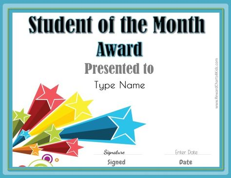 free star awards Templates Certificates Star Student Certificate - name a star certificate template