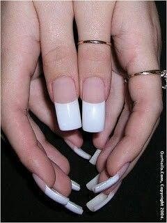 Nails Long French Nailsfrench Manicureslong