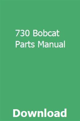 Bobcat Parts Online >> 730 Bobcat Parts Manual Subctretatdia