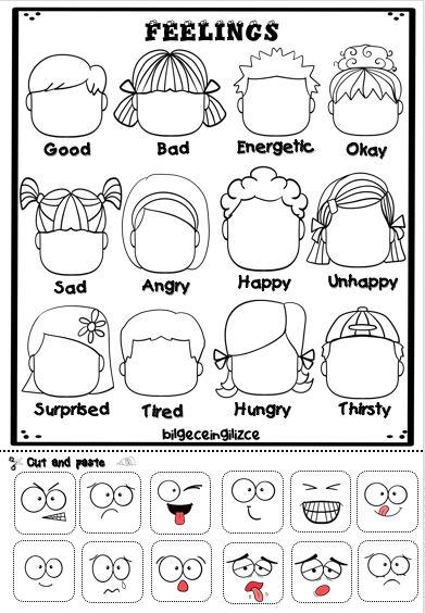 Emotions Preschool, Teaching Emotions, Emotions Activities, Preschool Learning Activities, Social Emotional Learning, Feelings And Emotions, Preschool Worksheets, Preschool Activities, Preschool Forms