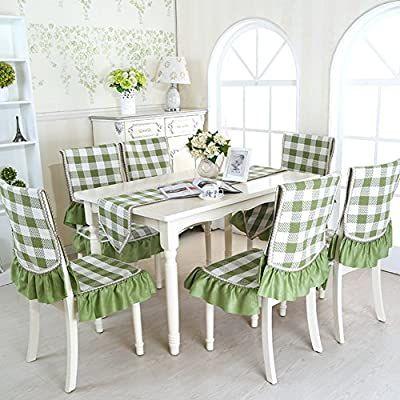 Amazon Com Fundas De Asiento De Tela Fundas Para Respaldo De Sillas Tapizado Kit Kitche In 2020 Seat Covers For Chairs Dinning Room Chair Covers Kitchen Chair Covers