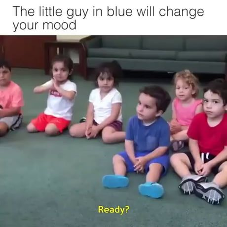 The Little Guy In Blue Will Change Your Mood Funny Videos For Kids Funny Baby Memes Funny Babies