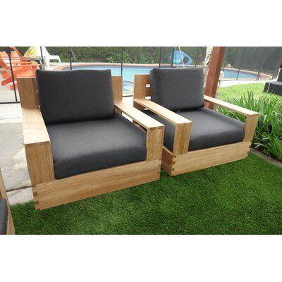 Rosecliff Heights Moody Teak Patio, Teak Patio Furniture Cushions