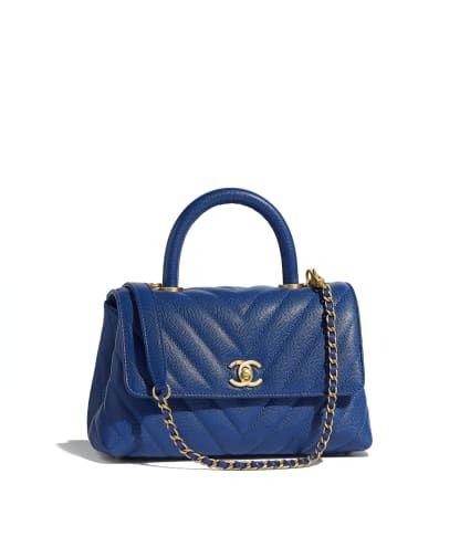 Printed Denim   Silver-Tone Metal Blue Large Shopping Bag in 2019 ... 62513135632e3