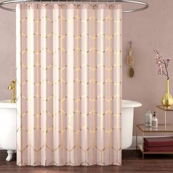Aloysia Ruffle Single Shower Curtain With Images Shower