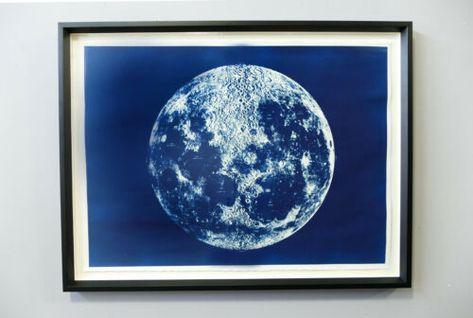 Details About Lunar Moon Map Moon Mid Century Modern Meditative