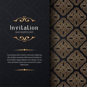 Greeting Card Invitation With Lace And Floral Ornaments Gold Ornamental Pattern Background Illustration Background Patterns Invitations Textured Lettering