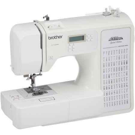 Refurbished Brother Project Runway Computerized Sewing Machine Rce1100prw 100 Stitches Walmart Com Computerized Sewing Machine Computerized Sewing Sewing Machine For Sale