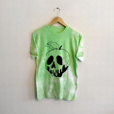 Disney Inspired Snow Whites Apple Skull Unisex Green T-shirt Pastel Colour Washed Green Hipster Indie Swag Dope Hype Mens Womens by IIMVCLOTHING on Etsy https://www.etsy.com/listing/192584529/disney-inspired-snow-whites-apple-skull