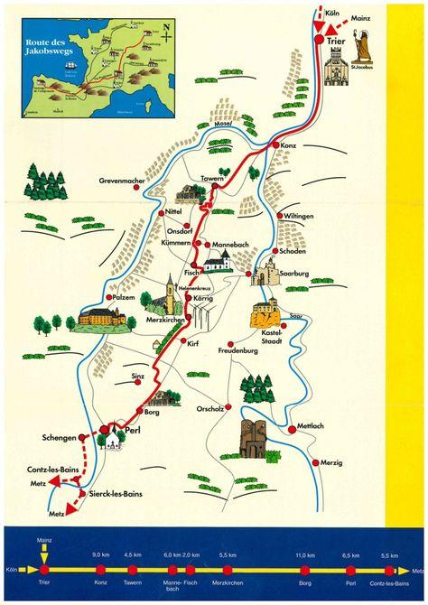 Trier Vezelay Le Puy En Velay Trier Jakobsweg Und