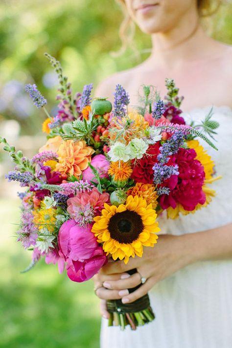Bouquet Sposa Estivo.Bouquet Sposa Estivo Bouquet Da Sposa Matrimonio Multicolore