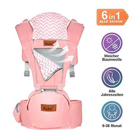 Baby Tragetasche Bauchtrage Babytrage Carrier Rückentrage Hüfttrage Unisex