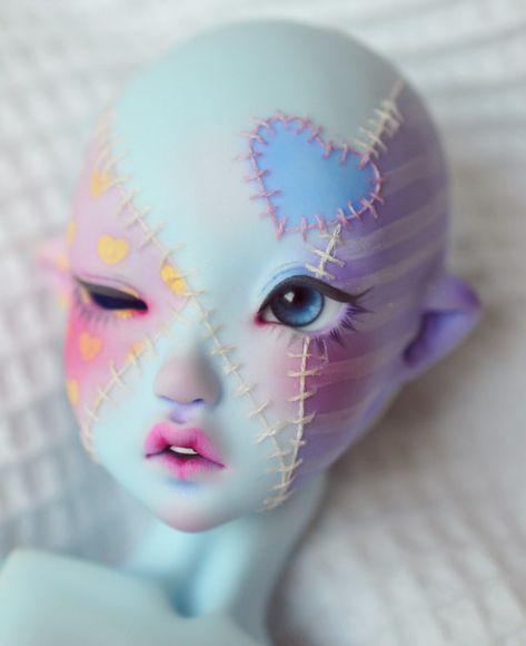 Ooak Dolls, Blythe Dolls, Arte Peculiar, Character Art, Character Design, Doll Painting, Smart Doll, Creepy Dolls, Creepy Cute