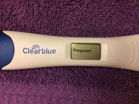 pregnancy test clear blue positive