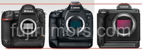 Size Comparison Fujifilm Gfx 100s Vs Sony A7iii Nikon D5 Canon 1dx Canon Eos R Nikon Z7 Nikon D850 Fuji Gfx 50r Fujif Mirror Camera Megapixel Camera Canon Eos