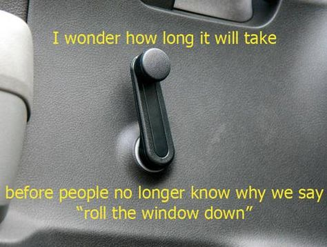 """After an automatic window gets stuck """"rolled down"""" in the rain I wish all cars would go back to this simpler mechanism"""