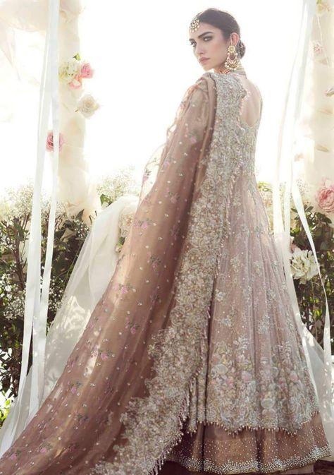 Asian Luxury Rose gold lehenga Online 2019 – Nameera by Farooq