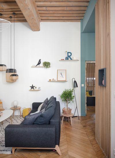 Home Sweet Home Lyon Place Sathonay Appartement Rénovation - Canapé 3 places pour architecte et decorateur d interieur